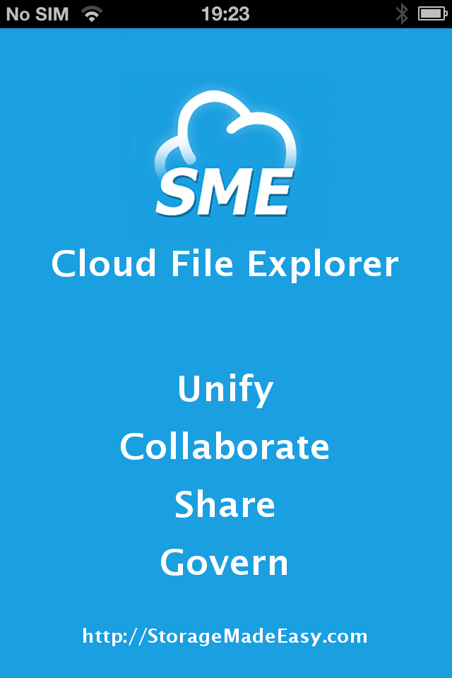 StorageMadeEasy :: iSMEStorage iPhone / iPad Cloud Storage File Manager